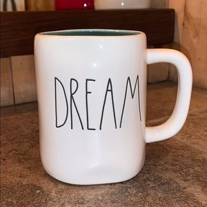 "Rae Dunn ""Dream"" Mug w/blue lining"